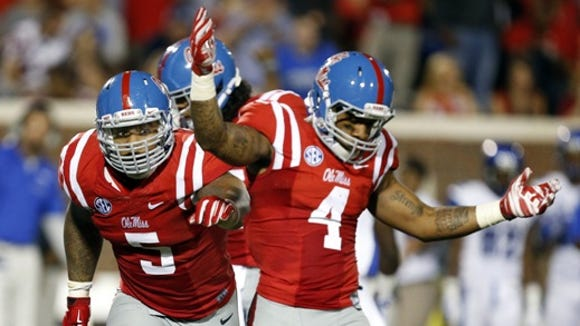 Ole Miss linebacker Denzel Nkemdiche will miss the rest of the season with an ankle injury.