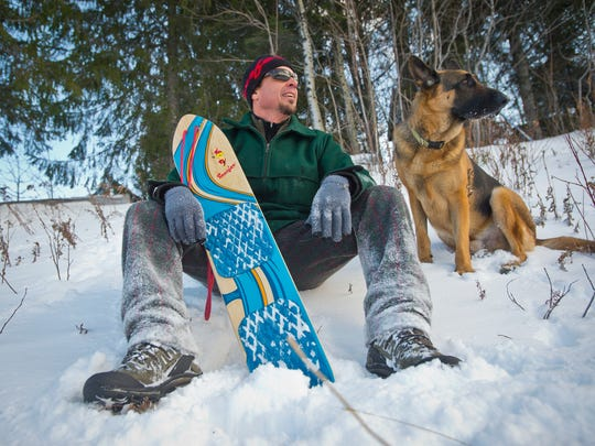 Brew Moscarello, owner of Balance Designs Inc. in Manchester, is bringing back the Snurfer, the predecessor of the modern snowboard, and the inspiration for Jake Burton and others, that sold more than 1 million units in the 1960s and 1970s before disappearing from the market. The Snurfer is essentially a small surf board for snow with a string attached to make turns by lifting the front end.