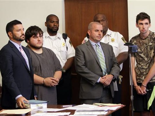 James Stumbo, second from left, and Kevin Norton, right,