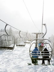At Mount Snow in early February, skiers and boarders
