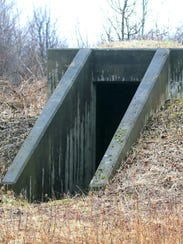 A small bunker at what used to be the Seneca Army Depot