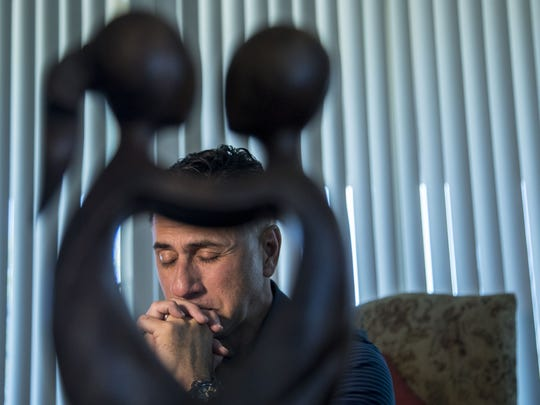 "A portrait of Walter Denton, an Arizona resident who has come forward with stories of abuse by the Catholic Church in Guam reacts to a Vatican ruling saying the Archbishop of Guam is ""guilty of certain crimes."""