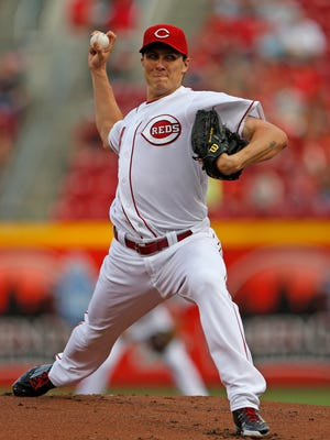 Reds starting pitcher Homer Bailey on July 28.