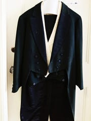 A wool tuxedo once worn by Clarence Pigford is kept in an original, cedar-lined closet on the second floor.