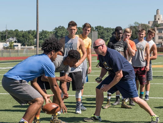 Football Camp at Battle Creek Central on Tuesday 1