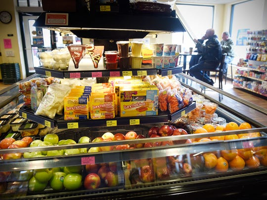 Fresh snack items are on display Friday, April 8, near the entrance to the Kwik Trip store  at 9855 Hart Blvd. in Monticello.