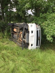 A driver who struck a Warren County Sheriff's vehicle