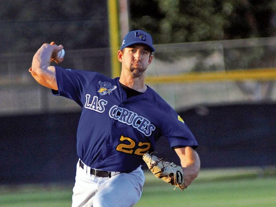 Jaime Guzman/For the Sun-News Las Cruces Vaqueros pitcher Casey Collins is part of a Vaqueros starting pitching staff that has performed better than their record would indicate.