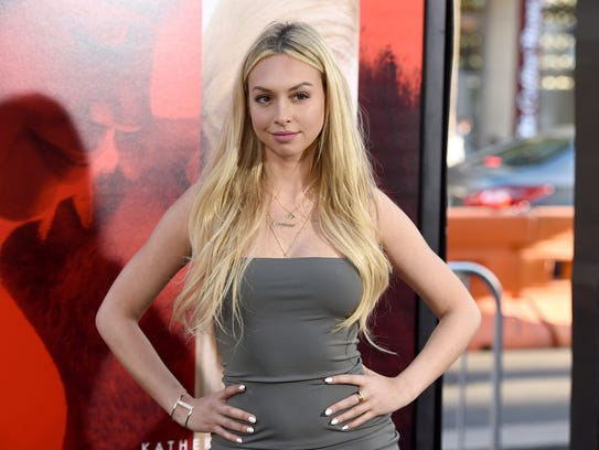 Corinne Olympios arrives at the Los Angeles premiere