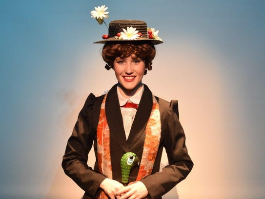 """Jaclyn Kell stars as """"Mary Poppins"""" in the Vineland"""