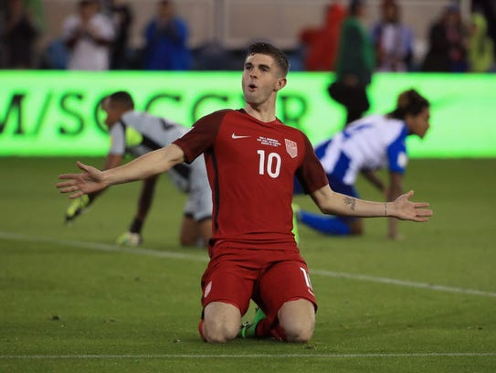 Christian Pulisic, who scored a goal in a World Cup