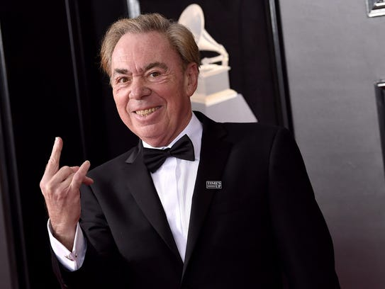 Andrew Lloyd Webber arrives at the 60th annual Grammy