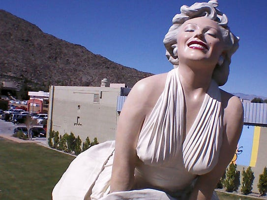 """The """"Forever Marilyn"""" statue is pictured in downtown"""