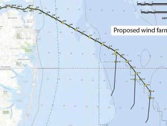 Offshore Wind Farms Near Reality For Delmarva - Us wind farm map