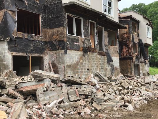 Lakeside Manor demolition in Wanaque