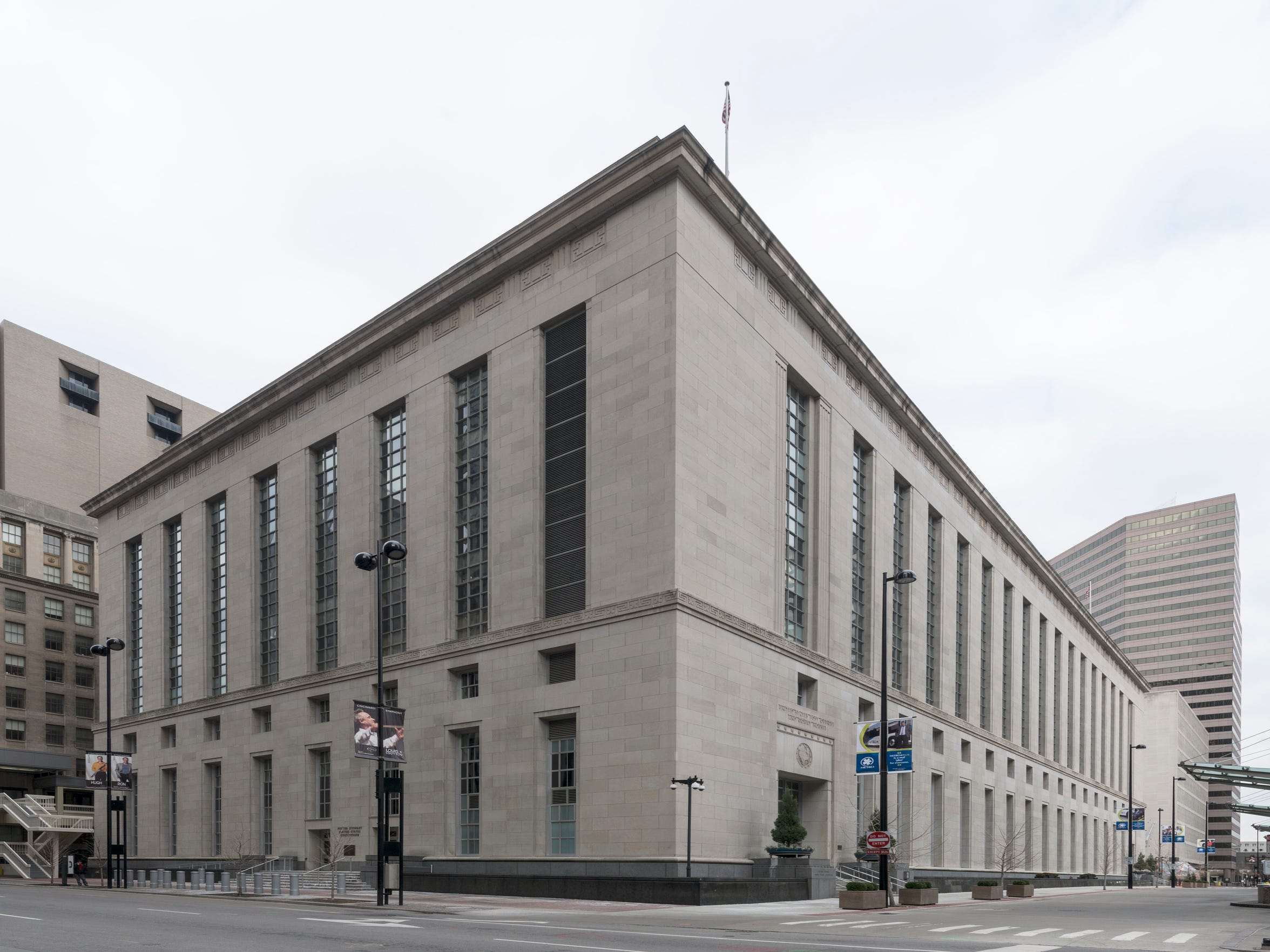 Potter Stewart Courthouse in Cincinnati, Ohio is home to the U.S. Southern District of Ohio District Court.