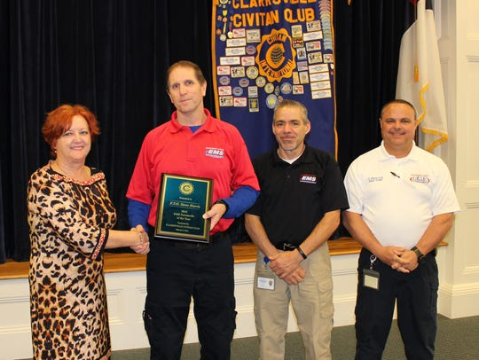 Paramedic Steve Harris with the MCEMS was honored for