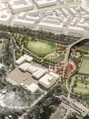 Artist's rendering of the proposed development of the