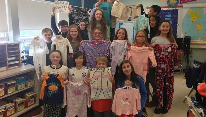Students at a Medford Lakes school collected pajamas for children in need.