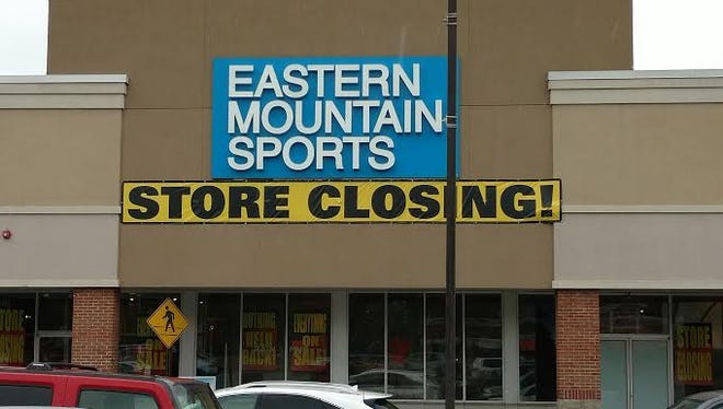 The Eastern Mountain Sports store in North Brunswick is closing.