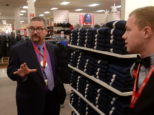 Penney manager and neat shelves