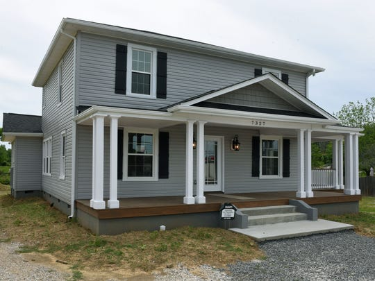 Laura Bailey and her daughter Kristian Payne moved and then refurbished this home on Old Clinton Pike in Powell Wednesday, May 17, 2017.