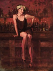 "Michelle Long in ""Alone at the Bar"" by Alan Brewen"