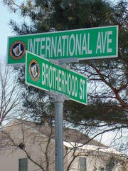 International Avenue and Brotherhood Street in Piscataway.