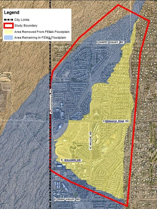 Scottsdale flood-map changes save residents money