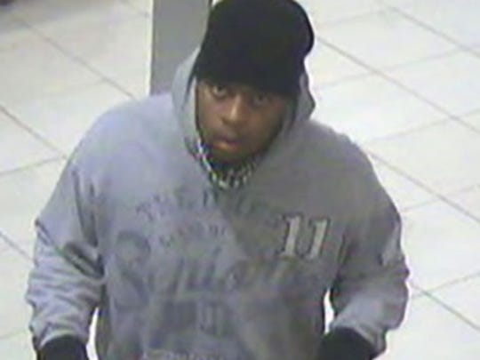 A photo released by police of a suspected bank robber.