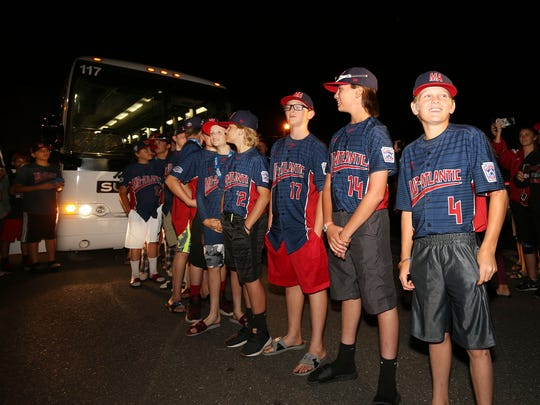 Holbrook Little League returned home to greet fans and family today.  Jackson, New Jersey. Sunday, August 27, 2017. David Gard /Correspondent