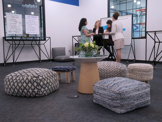 The Design Thinking room offers a relaxed environment for creative work.