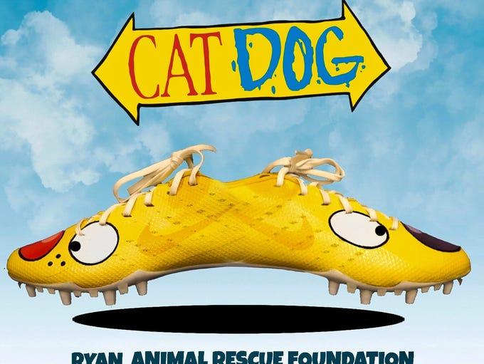 "Titans cornerback Logan Ryan's ""CatDog""-themed cleats"