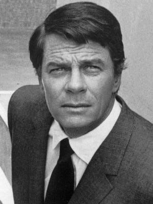 """This 1969 file photo shows actor Peter Graves close up during shooting of the popular television show """"Mission: Impossible."""""""