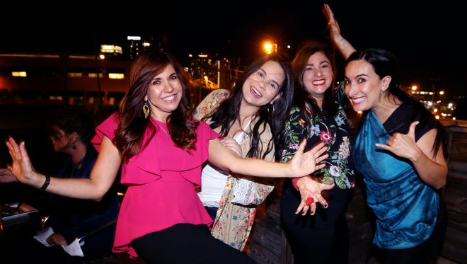 The four Marcelas: (from left to right) Marcela Gomez, Diana Marcela Perez, Marcela Castano and Marcela Pinilla at Salsa Restaurant Saturday October 7, 2017.