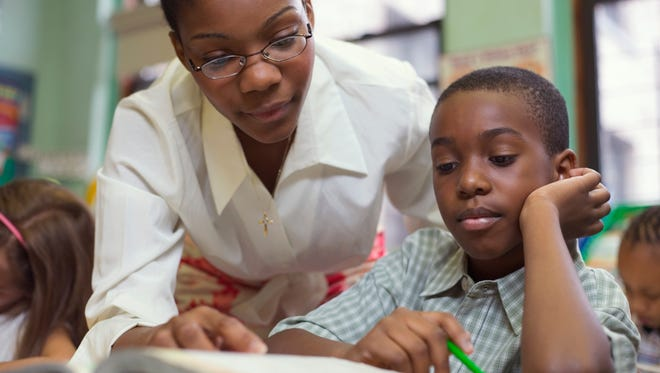 Black students in New York's Success Academy schools reached the ''proficient'' level more than twice as often as black students in the regular public schools.