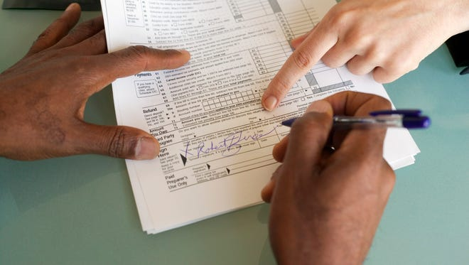 Volunteers prepare simple, non-business tax returns for people with low to moderate incomes.