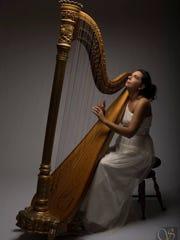 Jamie Gossett plays the harp  at 8 p.m. Friday at Blue