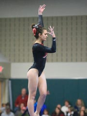 Performing her winning routine on balance beam Wednesday