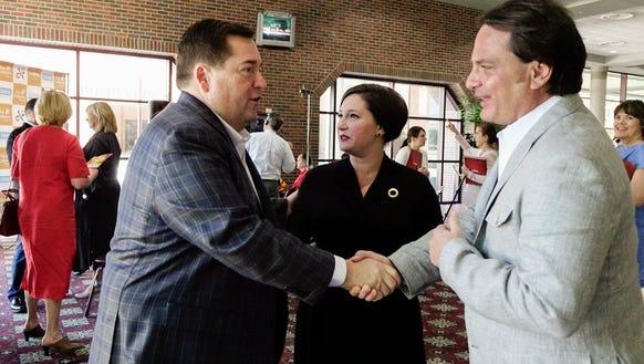Lt. Gov. Billy Nungesser greets Cafe Vermilionville
