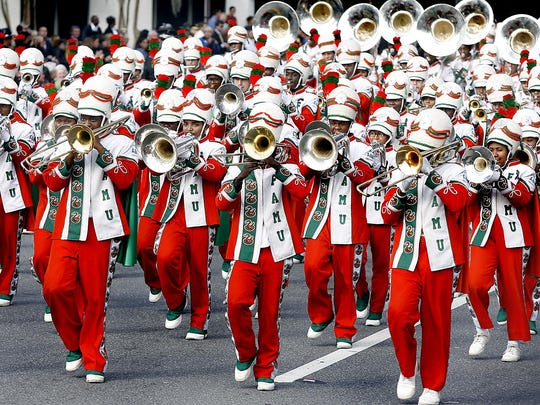 The FAMU Marching 100 perform at the inauguration parade for Gov. Rick Scott in 2011.
