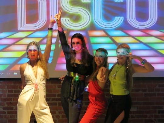 """Demoiselle Debs Renee Lyles, Grace Poimboeuf, Lily Huggs, Anne Evans at """"Groove On."""""""