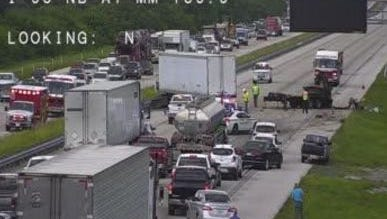 A traffic accident has been reported on Interstate 95 in the Viera area