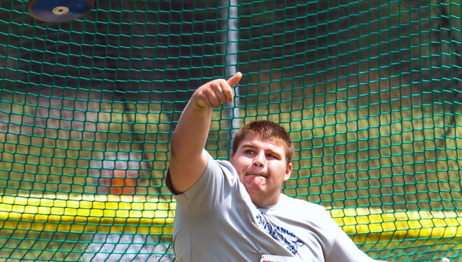 Fort Defiance's Zach Boyers placed third in the discus and second in the shot put at the Region 3A West meet in Roanoke.