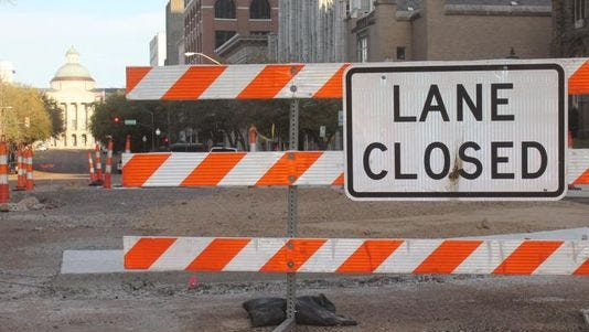 The city of Jackson said Capitol Street construction could be complete as early as January.