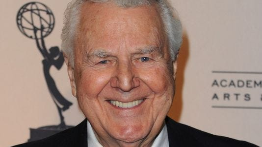Actor Don Pardo is shown in 2010.