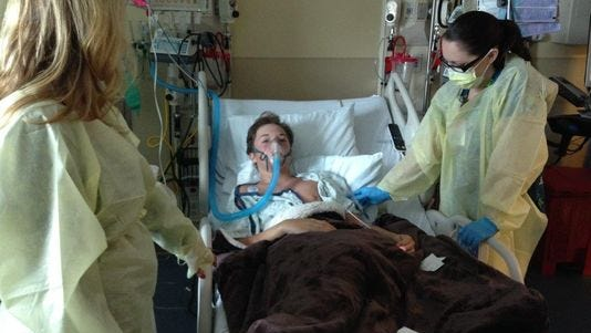 Will Cornejo was on a breathing tube for 24 hours to get through the worst of it.
