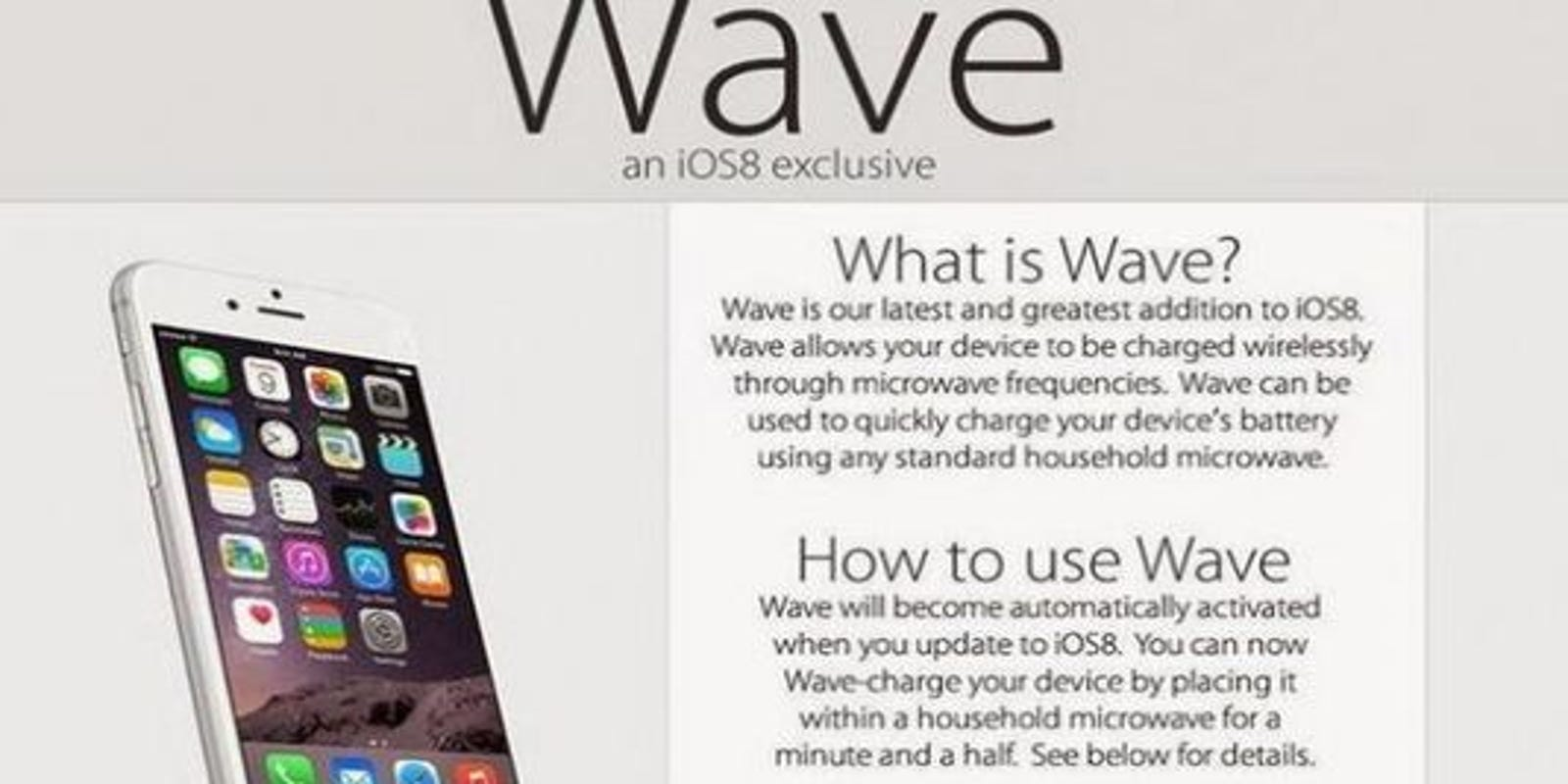 Warning for iPhone users: iOS 8 Wave a hoax