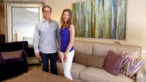 Suffern Furniture Gallery owners Anthony and Lynette Tufano are photographed in the showroom, June 4, 2014 in Suffern.