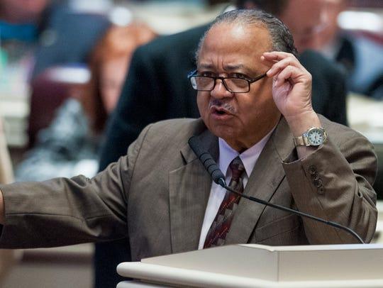 Representative Alvin Holmes during the legislative